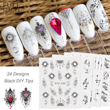 Special Set #3 - 24 Sheets Per Set | Mixed Art Nail Art Decals