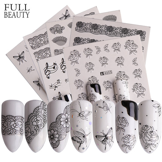 Special Set #1 - 40 Sheets Per Set | Black And White Theme Nail Art Decals