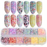 Nail Decor #1 - 12 Color Per Set | Abstract Flowers Inspired Set