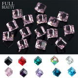3D Rhinestone Cube Charms | 10 Pieces Per Set