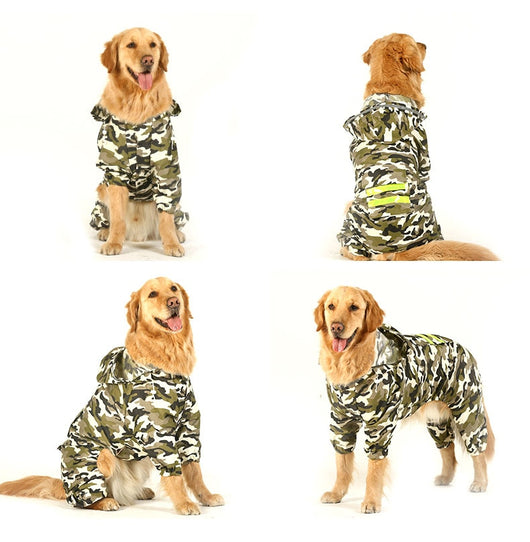 Large Dog Rain Coats - 4 Colors To Choose From!