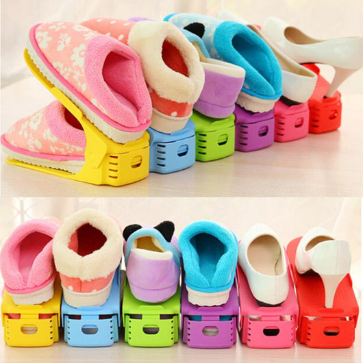 Multi Colored Stacking Shoe Organizer