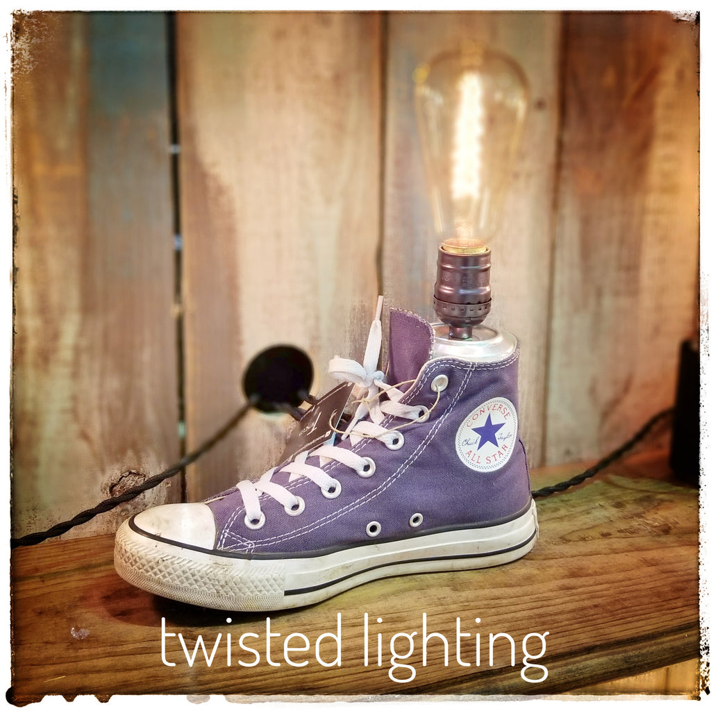 Chuck Taylor Converse lamp - Twisted Lighting
