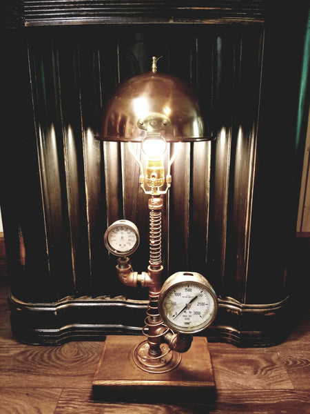Copper Steampunk Lamp - Twisted Lighting