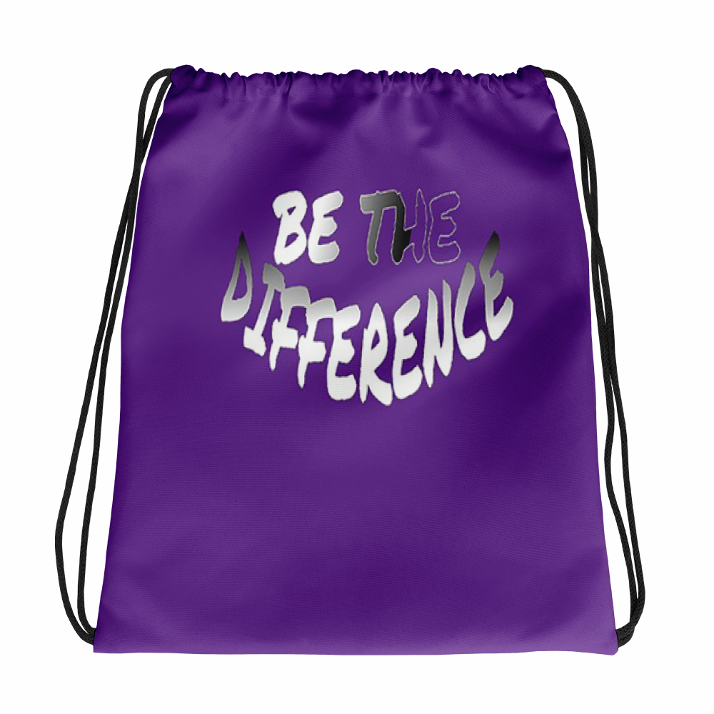 Be The Difference Drawstring Bags - Be Ye AWARE Clothing