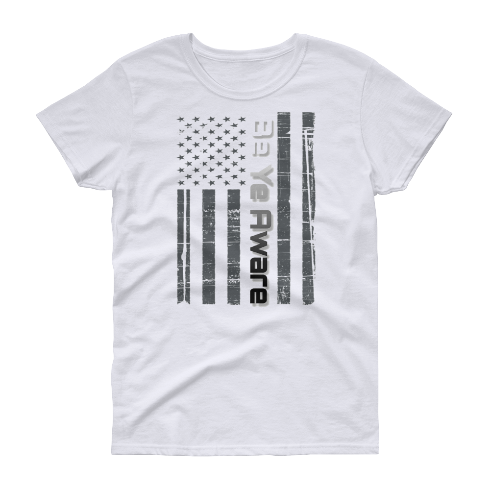 Old Glory Ladies' Tees - Be Ye AWARE Clothing
