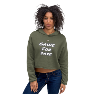 Gainz for Dayz Ladies Crop Hoodies - Be Ye AWARE Clothing