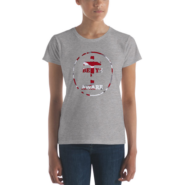 Be Ye AWARE Red Fatigue Ladies' Tees - Be Ye AWARE Clothing