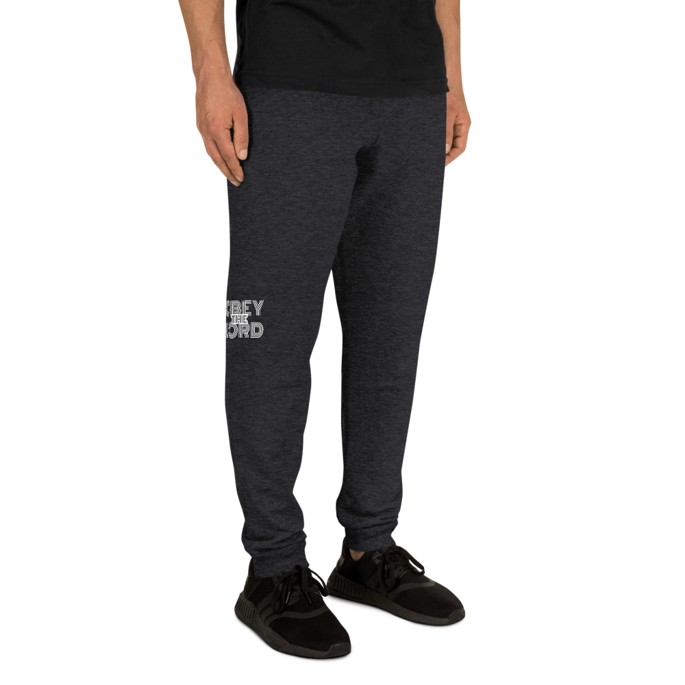 Obey the Lord Men/Unisex Joggers - Be Ye AWARE Clothing