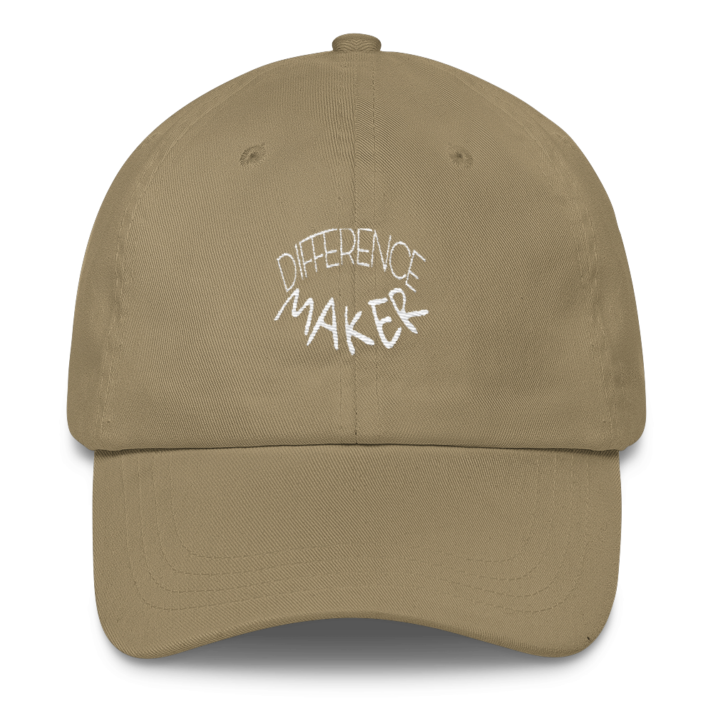 Difference Maker Dad Caps - Be Ye AWARE Clothing