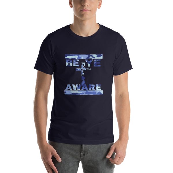 BYA Blue Fatigue - Mens/Unisex Tees - Be Ye AWARE Clothing