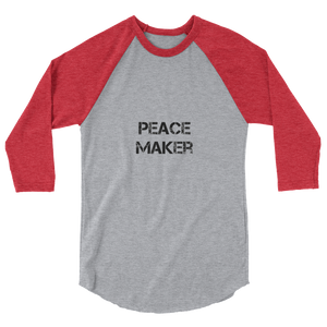 Peace Maker Men/Unisex Baseball Tees - Be Ye AWARE Clothing