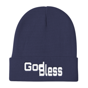 God Bless Unisex Knit Beanies - Be Ye AWARE Clothing