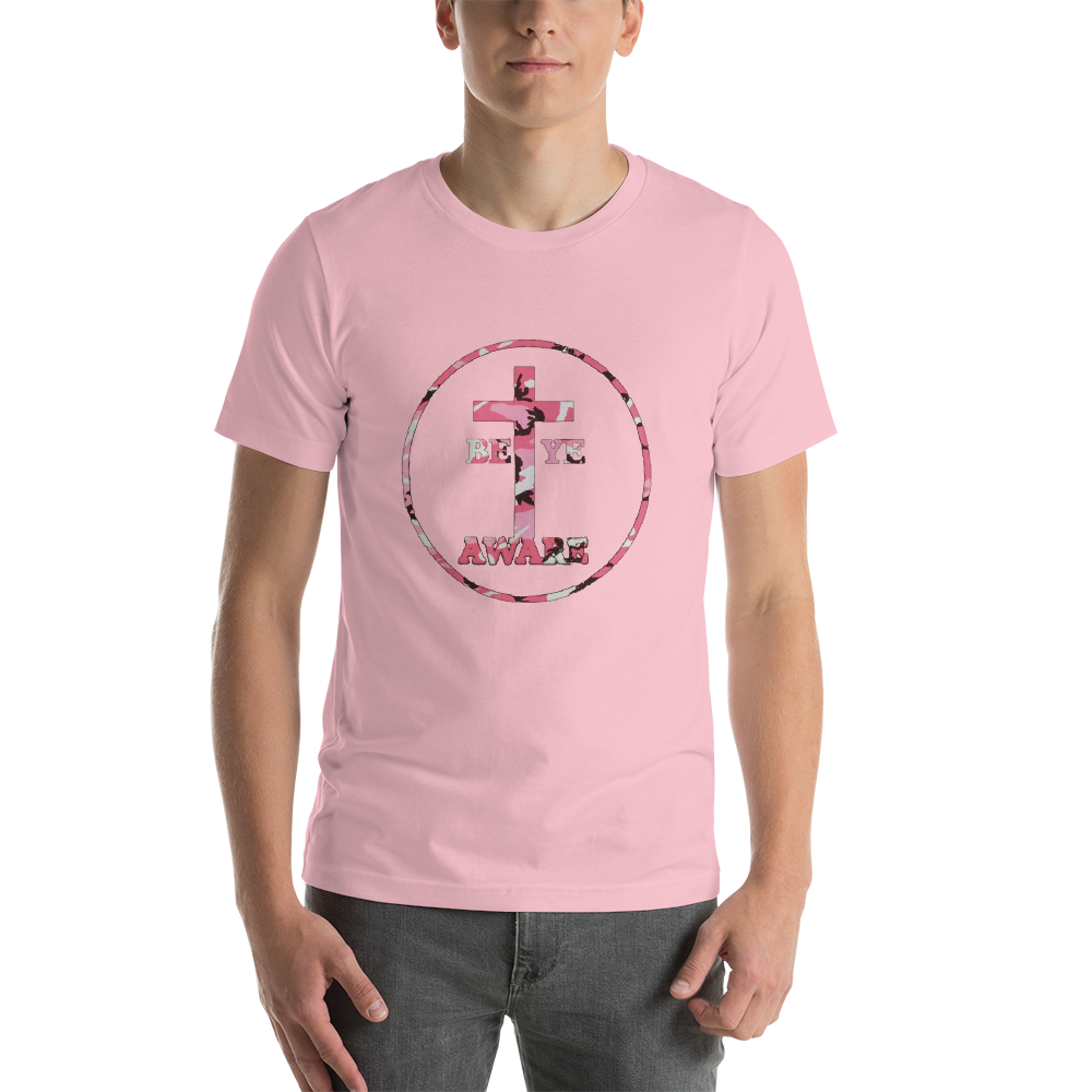 Be Ye AWARE Pink Fatigue - Mens/Unisex Tees - Be Ye AWARE Clothing