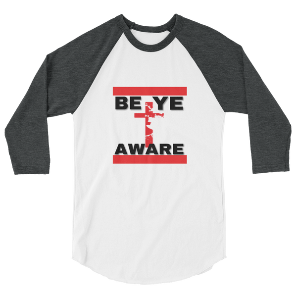BYAWARE Men/Unisex  Baseball Tees - Be Ye AWARE Clothing