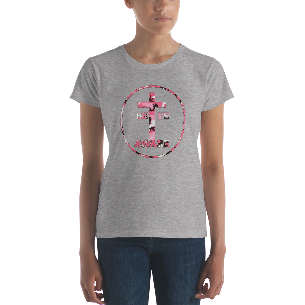 Be Ye AWARE Pink Fatigue Ladies' Tees - Be Ye AWARE Clothing
