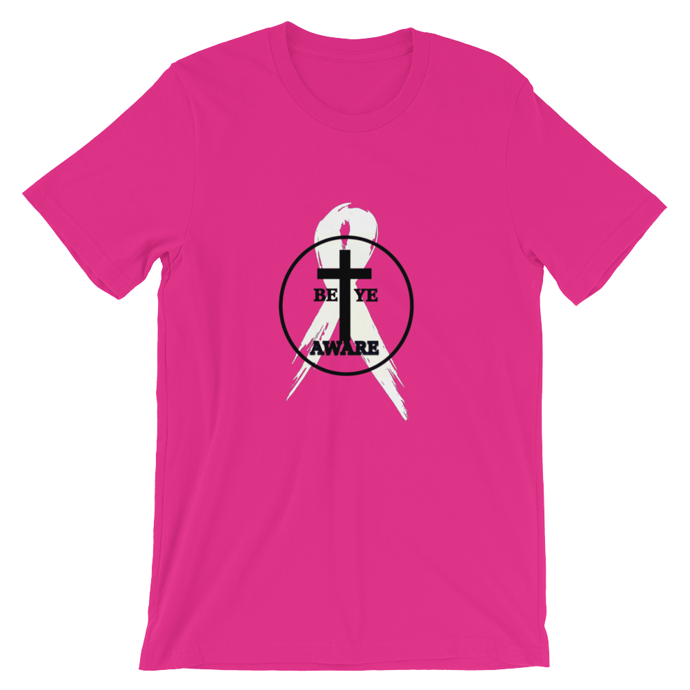 BCA Special Edition Ladies'/Unisex Awareness Tee - Pink - Be Ye AWARE Clothing