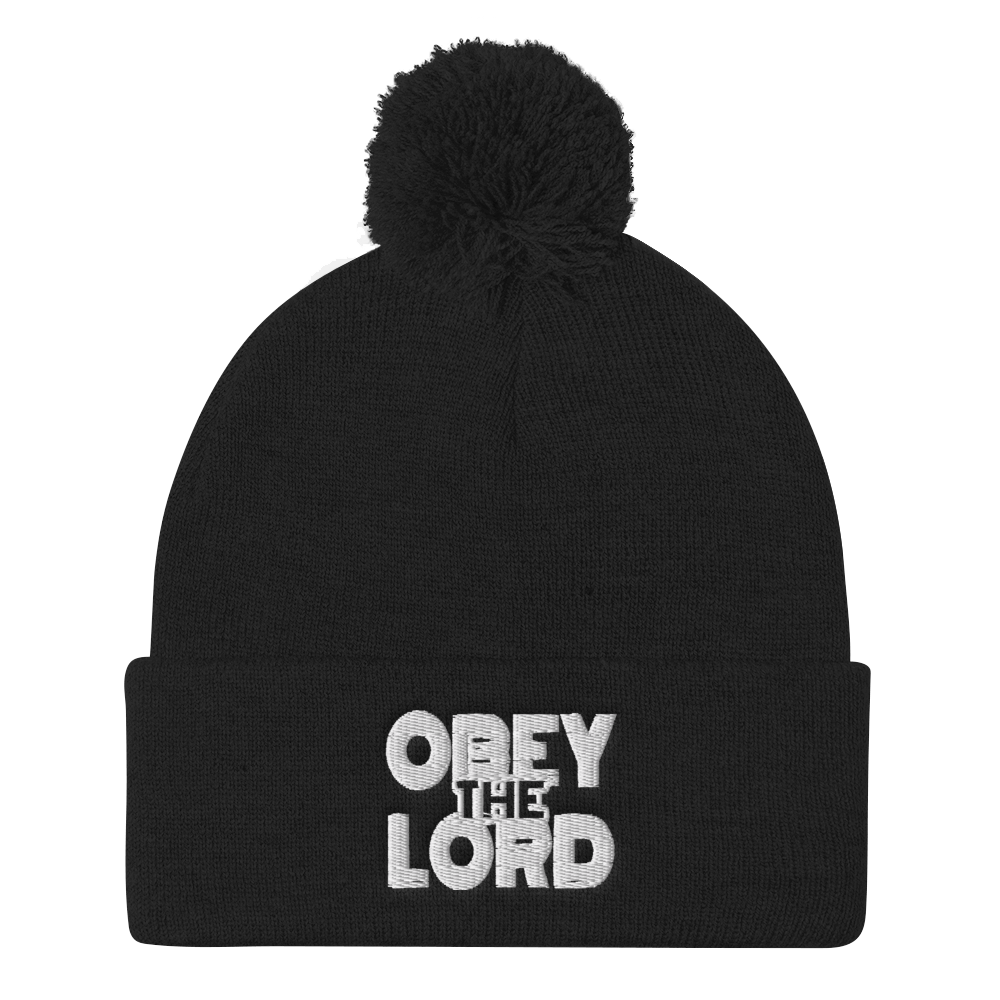 Obey the Lord Pom-Pom Beanies