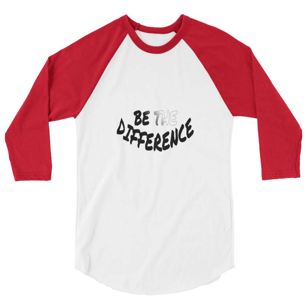 Be The Difference Men/Unisex Baseball Tees - Be Ye AWARE Clothing