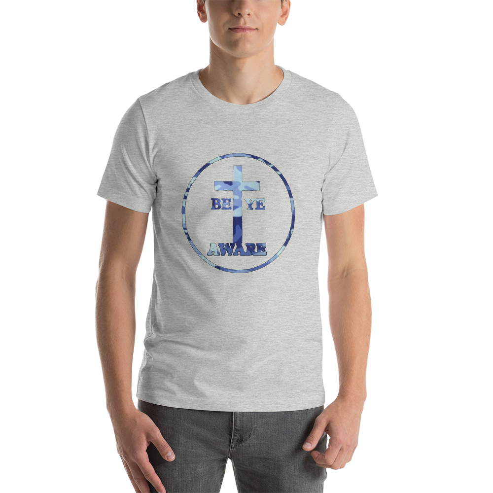 Be Ye AWARE Blue Fatigue - Men's/Unisex Tees - Be Ye AWARE Clothing