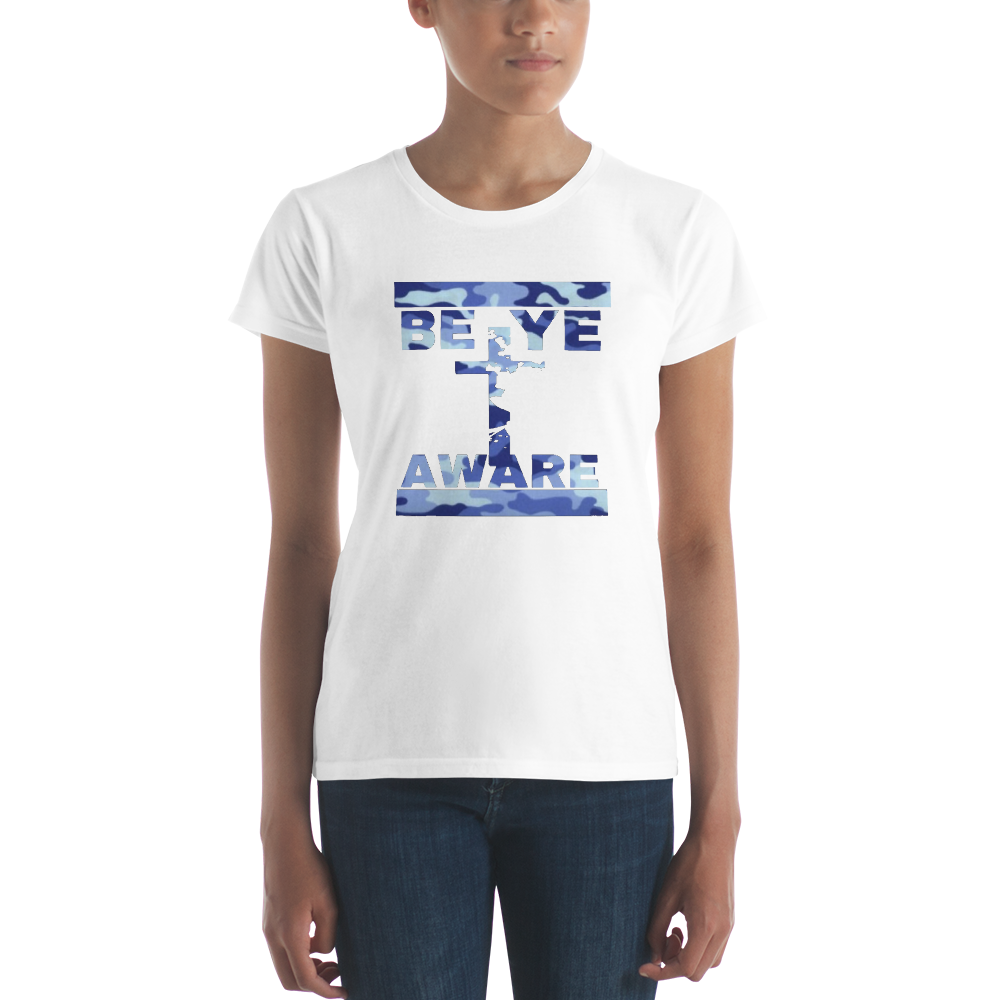 BYA Blue Fatigue Ladie's Tees - Be Ye AWARE Clothing