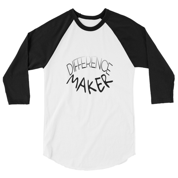 Difference Maker Men/Unisex Baseball Tees - Be Ye AWARE Clothing