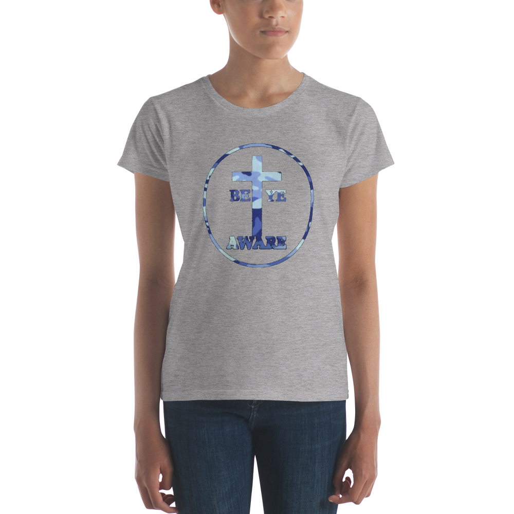 Be Ye AWARE Blue Fatigue Ladies' Tees - Be Ye AWARE Clothing