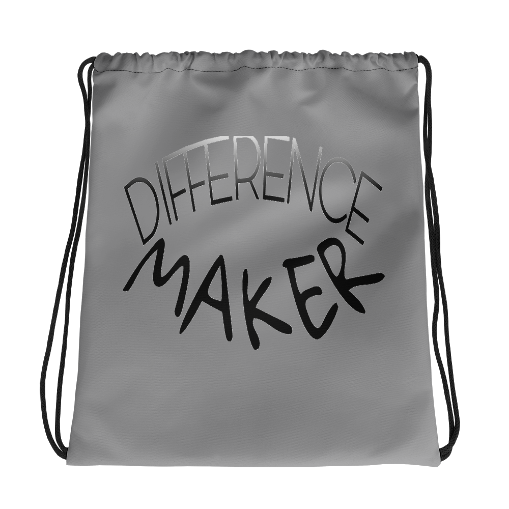 Difference Maker Drawstring Bags
