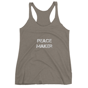 Peace Maker Ladies Racerback Tees - Be Ye AWARE Clothing