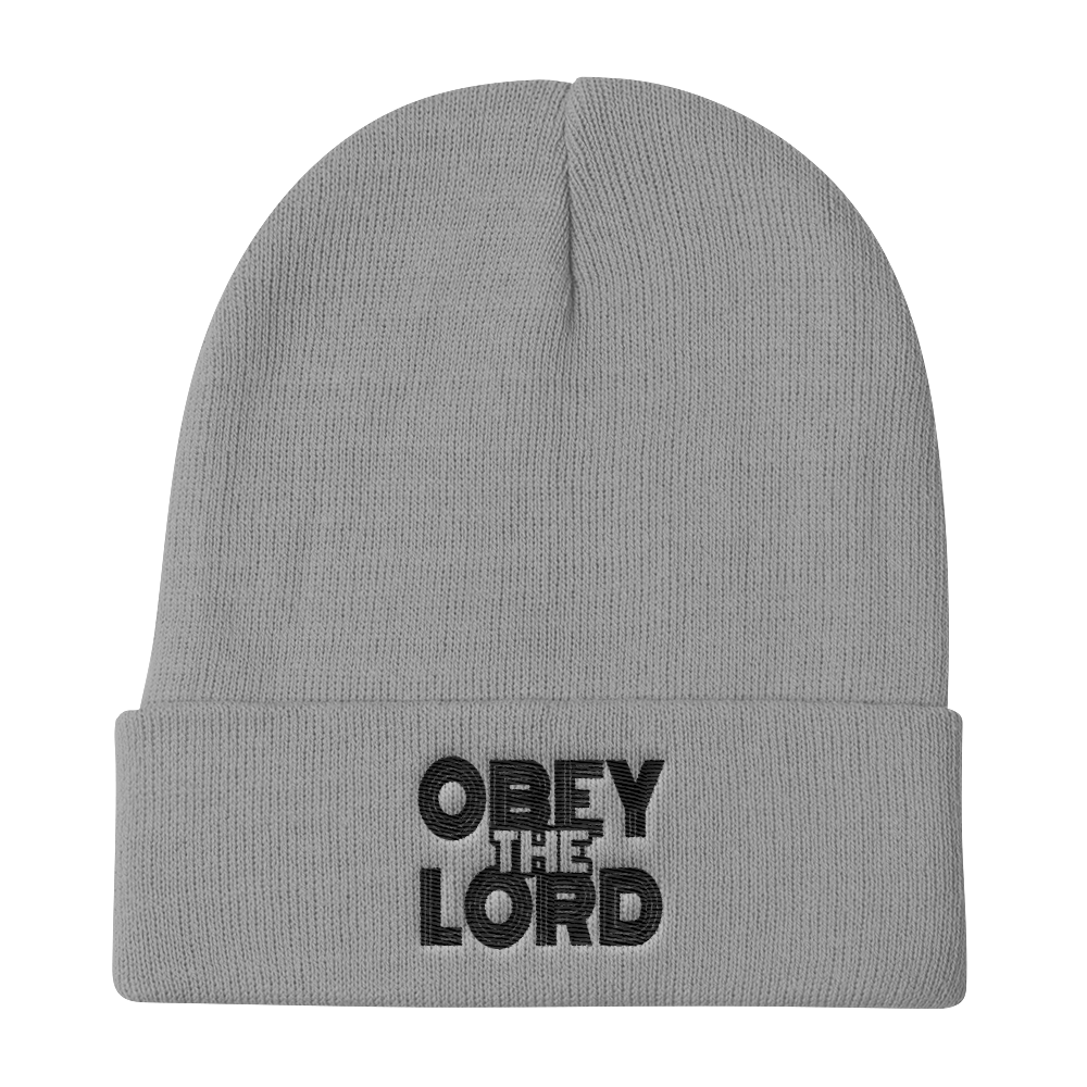 Obey the LORD Unisex Knit Beanies - Be Ye AWARE Clothing