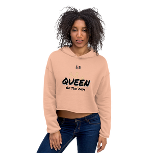 Queen of the Gym Ladies Crop Hoodies - Be Ye AWARE Clothing
