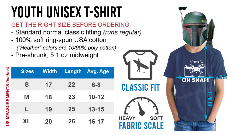 childrens t-shirt size chart