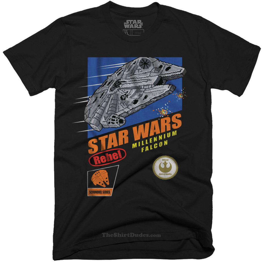 Super Millennium Falcon 8-bit Video Game T-Shirt