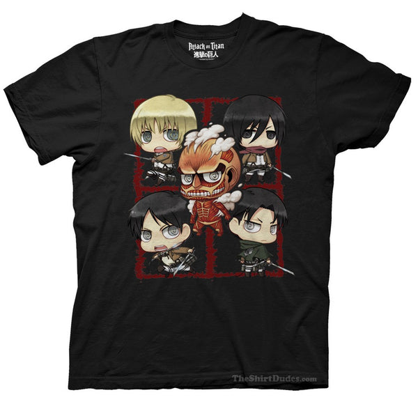 Attack on Titan - Chibi Characters T-Shirt