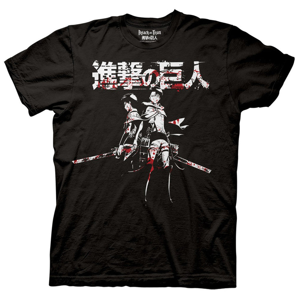 Attack on Titan - Levi And Eren Blood T-Shirt