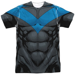 Nightwing BLUE Costume Uniform Sublimation t-shirt