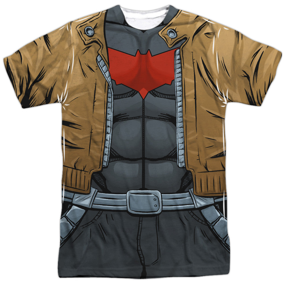Red Hood With Coat Costume Uniform Sublimation t-shirt