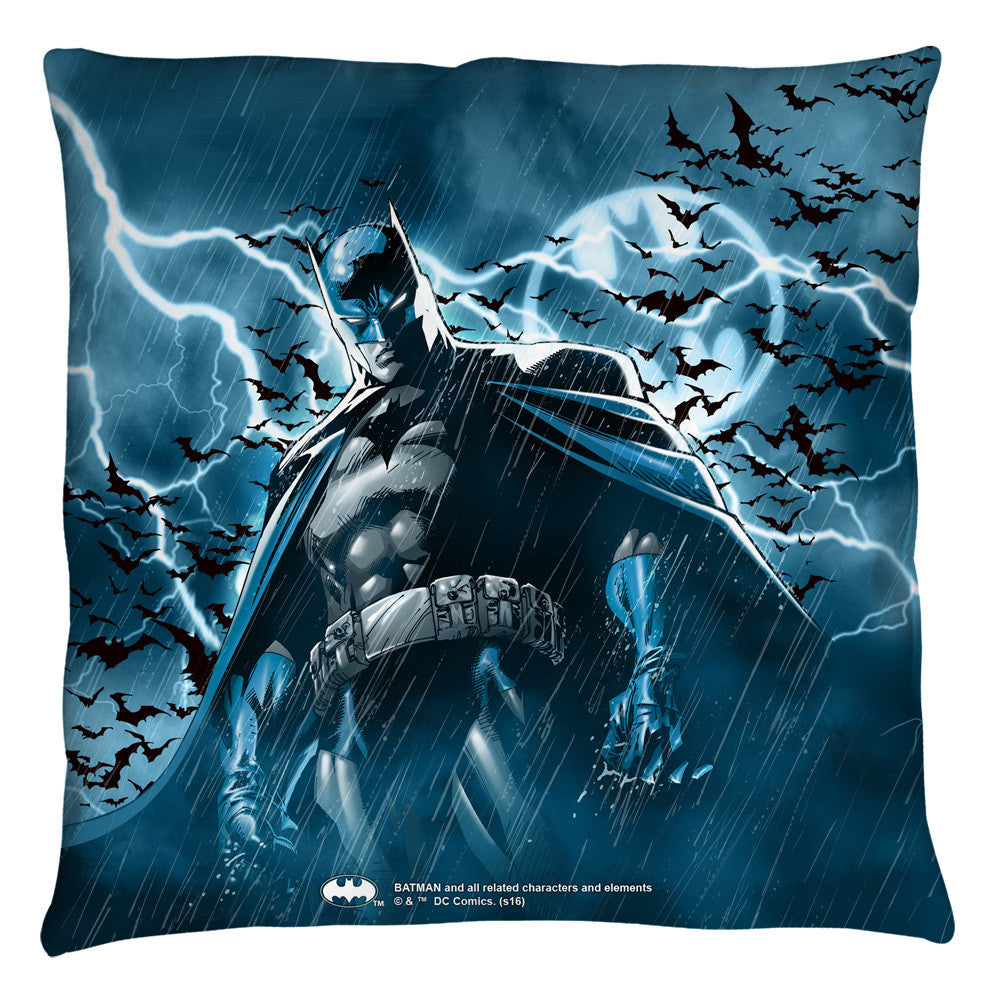 Batman - Stormy Knight Throw Pillow