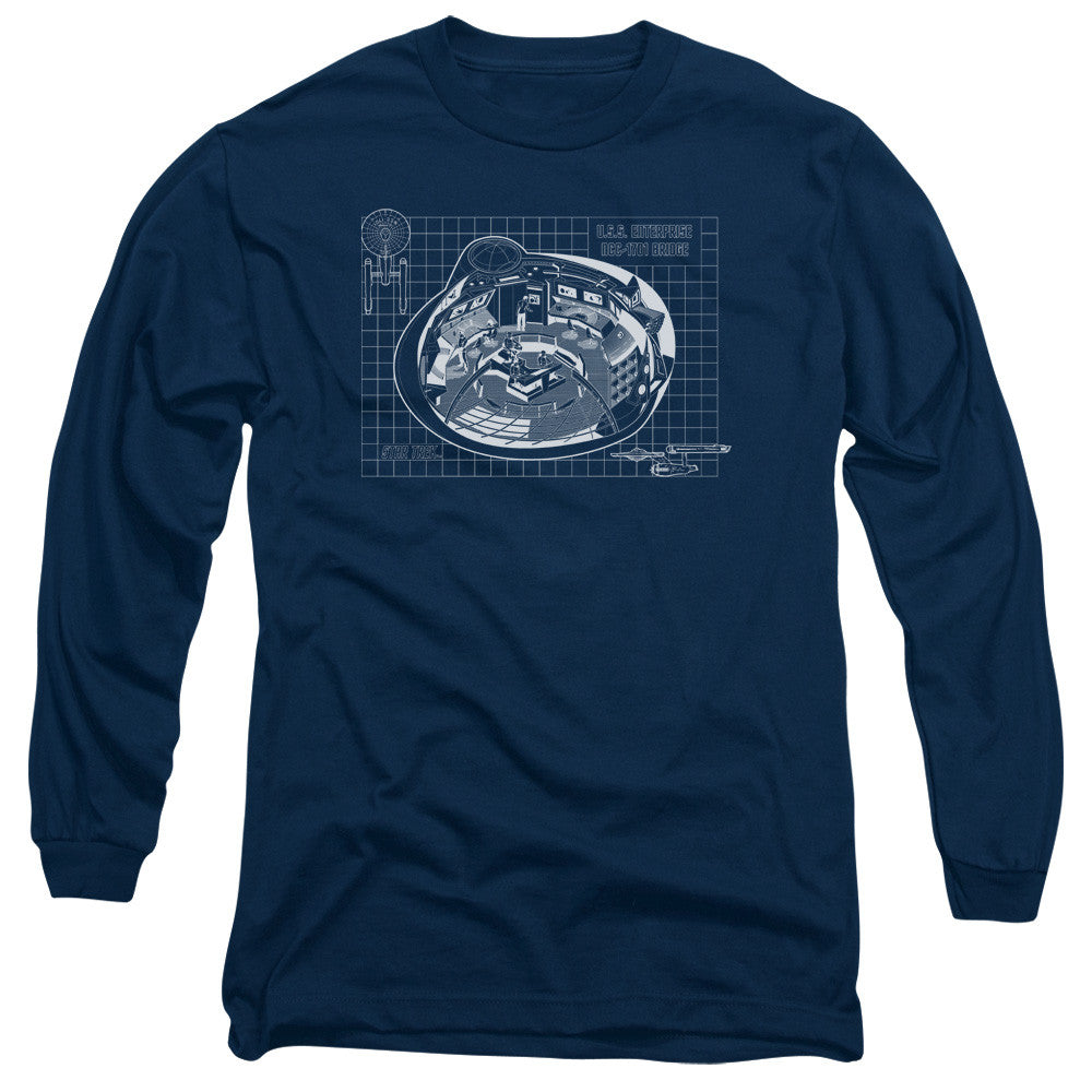 Star Trek NCC-1701 Bridge Blueprint t-shirt