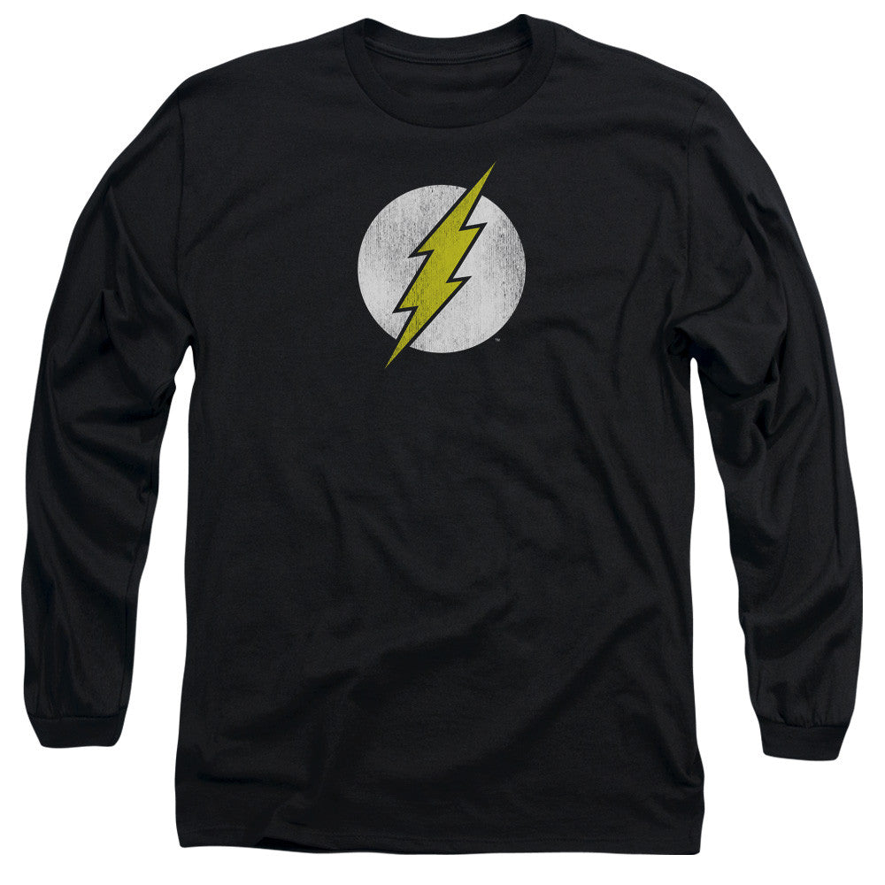 The Flash - Classic Vintage Chest Logo BLACK t-shirt