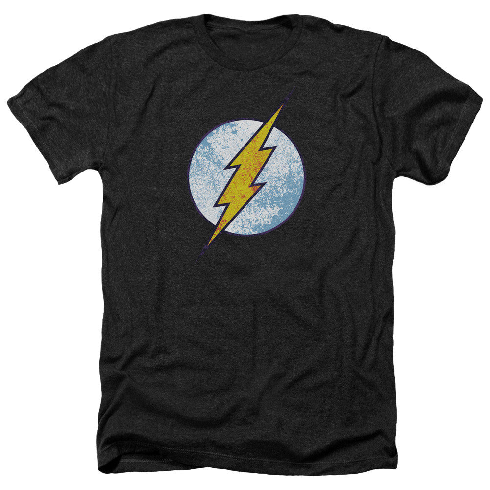 The Flash - Classic Distressed Black Chest Logo t-shirt