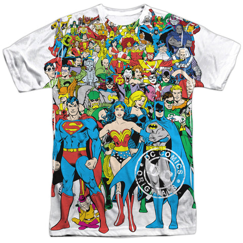 DC Comics Universe Superheroes Team Sublimation t-shirt