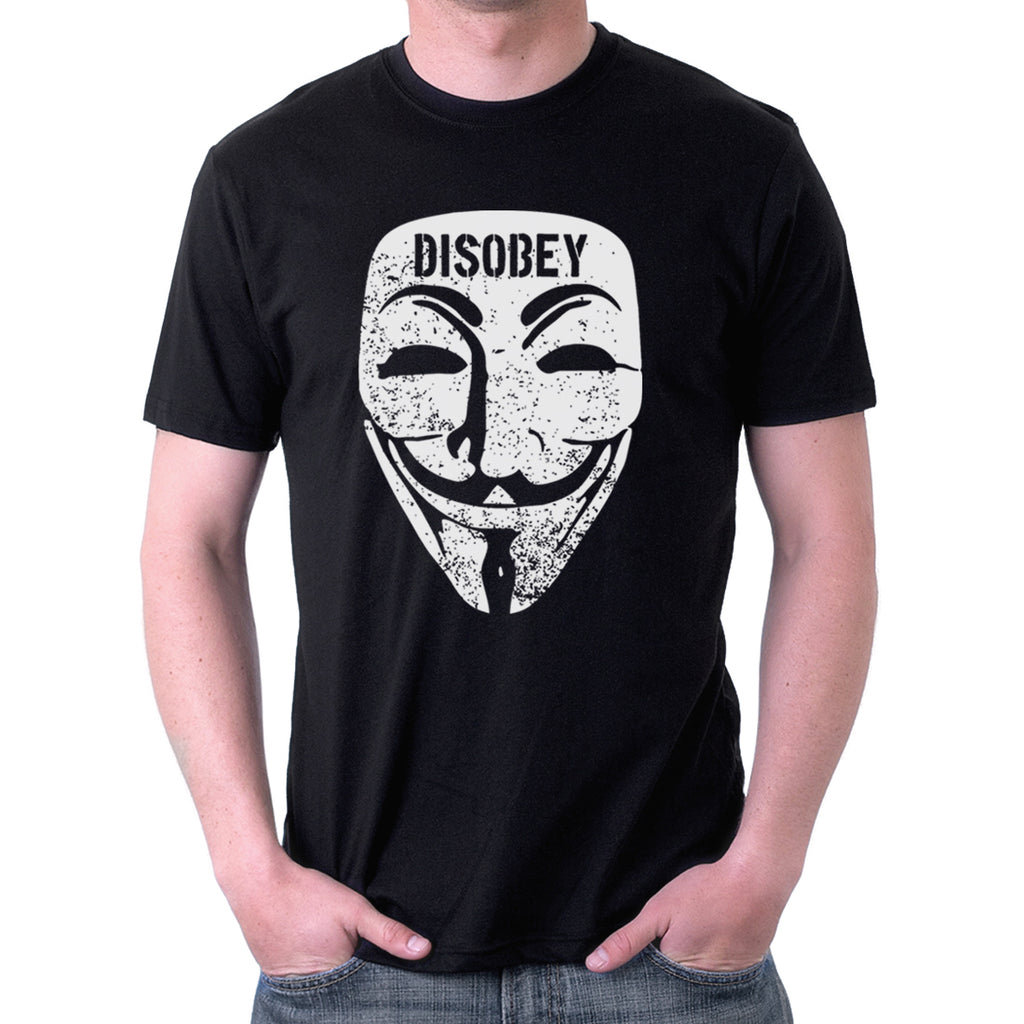 Disobey Guy Fawkes Mask T-Shirt