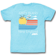 Jaws - Retro Sunset at Amity Island, New England T-Shirt