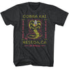 Karate Kid - Cobra Kai Neon Black T-Shirt