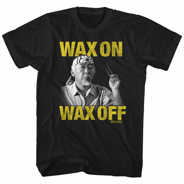 Karate Kid - Wax On, Wax Off (yellow text) T-Shirt