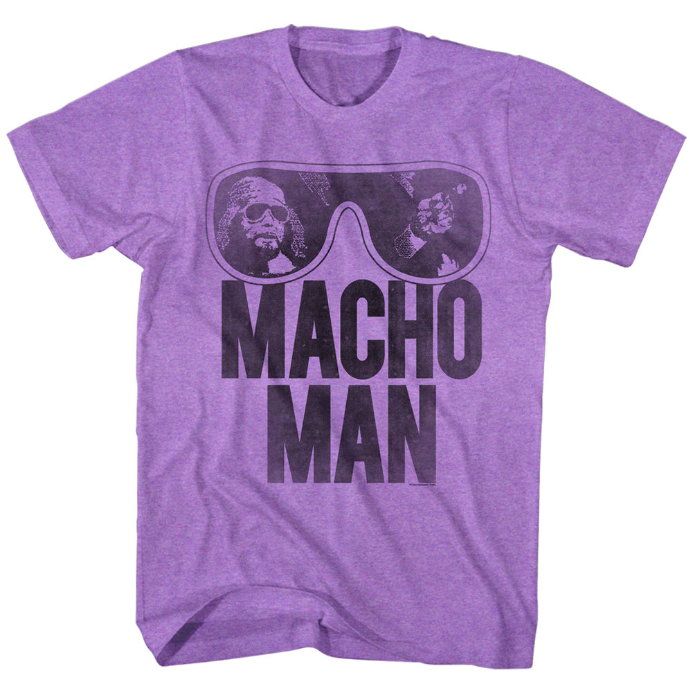 Macho Man - Old School Purple T-Shirt