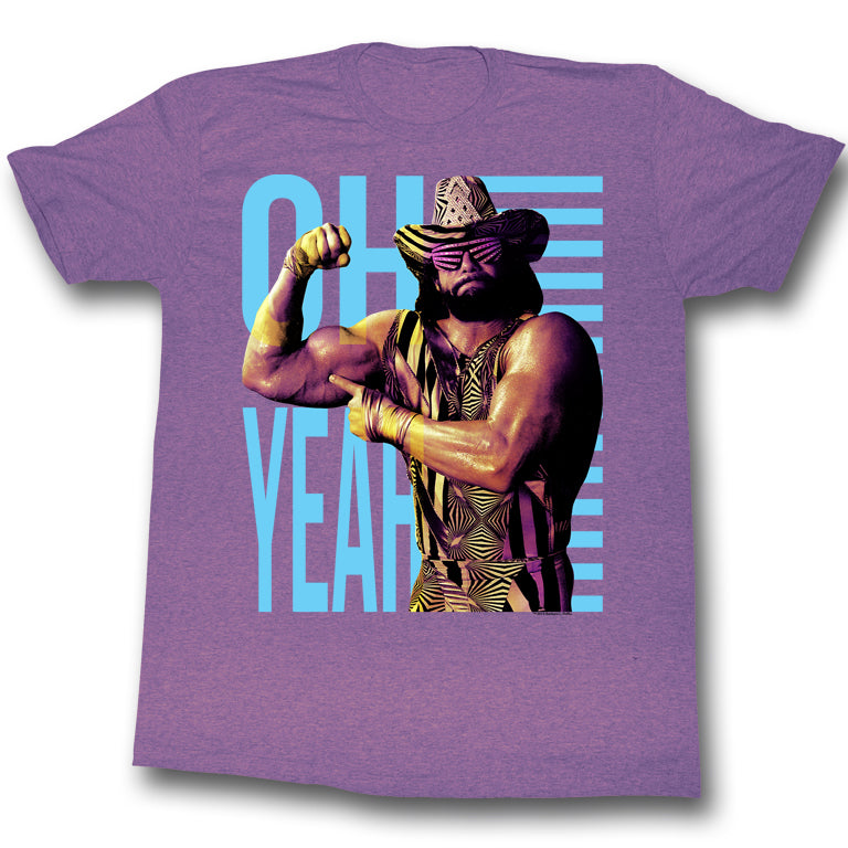 Macho Man - Oh Yeah Purple T-Shirt