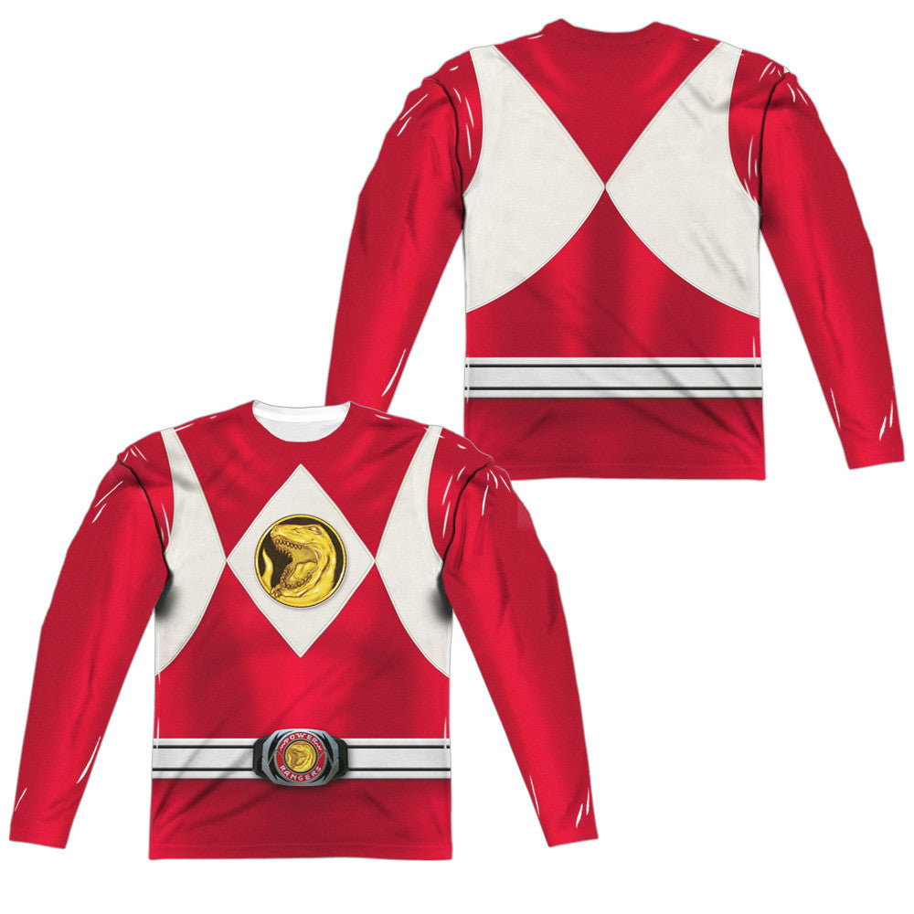 Power Rangers Red Costume Uniform Sublimation t-shirt