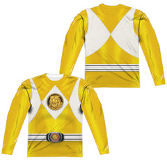 Power Rangers Yellow Costume Uniform Sublimation t-shirt